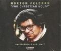 Morton Feldman / For Christian Wolff