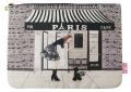 Cafe-Paris フラットポーチ L size