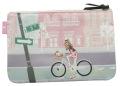145-Bike-girl フラットポーチ