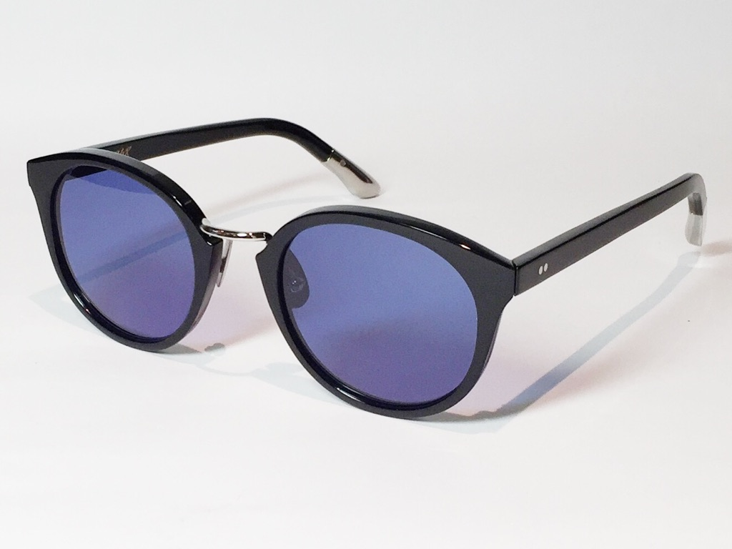【送料無料】A.D.S.R.(エーディーエスアール) DARRYL [ ダリル ] 01 ( Shiny Black / Silver Metal / Blue (Black) Lens )