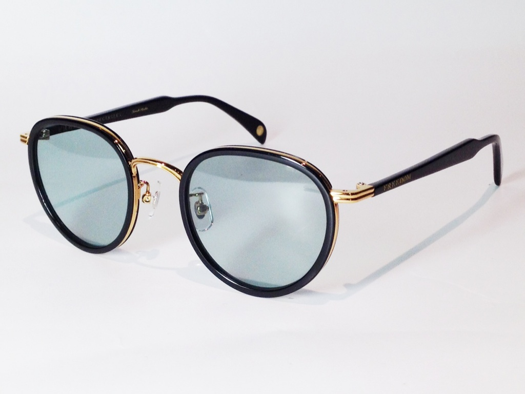 【送料無料】FREEDOM SPECTACLES (フリーダムスペクタクルス) MARLON  COLOR. 12 ( BLACK - GOLD / GREEN )