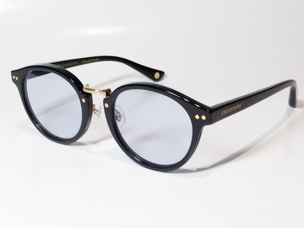 【送料無料】FREEDOM SPECTACLES (フリーダムスペクタクルス) MARTIN  COLOR. 02 ( Black - Yellow Gold  / Light Blue )