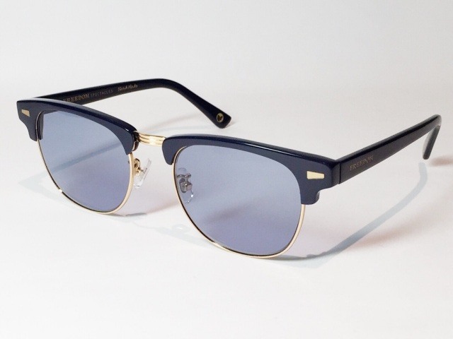 【送料無料】FREEDOM SPECTACLES (フリーダムスペクタクルス) BAKER  COLOR. ( NAVY - GOLD / DEEP BLUE )