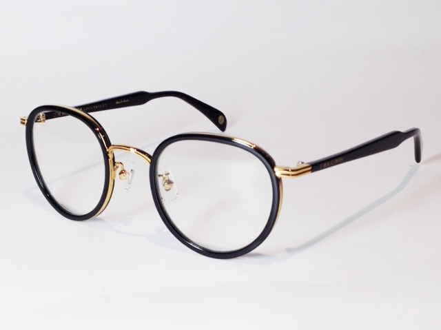 【送料無料】FREEDOM SPECTACLES (フリーダムスペクタクルス) MARLON  COLOR. 10 ( BLACK - GOLD / CLEAR )
