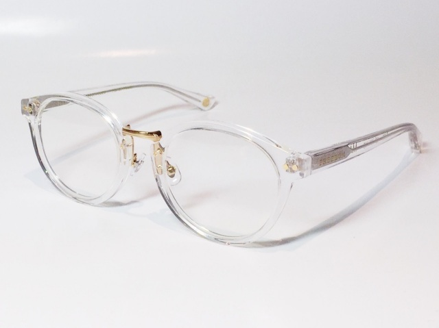 【送料無料】FREEDOM SPECTACLES (フリーダムスペクタクルス) MARTIN  COLOR. ( Clear - Yellow Gold  / Clear )