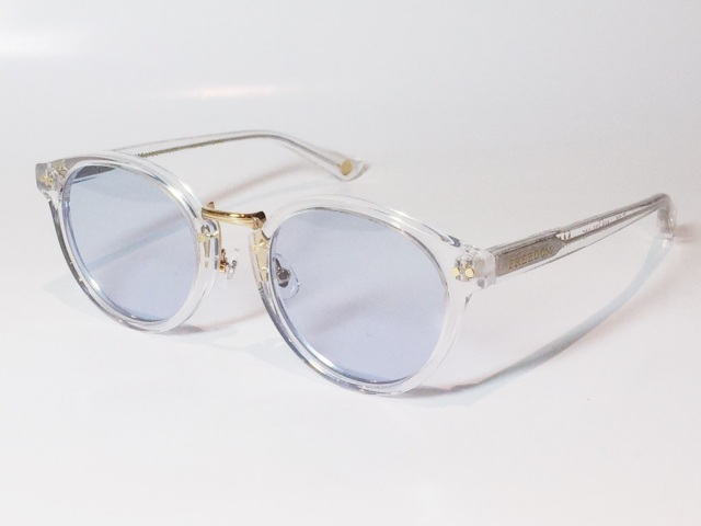 【送料無料】FREEDOM SPECTACLES (フリーダムスペクタクルス) MARTIN  COLOR. ( Clear - Yellow Gold  / Light Blue )