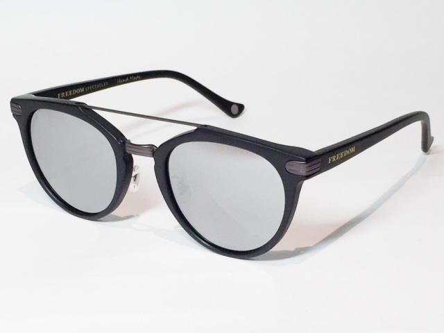 【送料無料】FREEDOM SPECTACLES (フリーダムスペクタクルス) POWELL  COLOR. 04 ( Matte Black - Matte Dark Gunmetal / Silver Mirror )