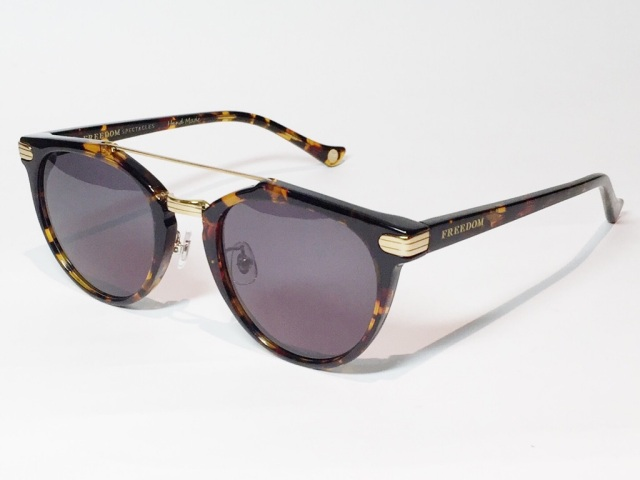【送料無料】FREEDOM SPECTACLES (フリーダムスペクタクルス) POWELL  COLOR. 05 ( Tortoise - Yellow Gold / Grey )