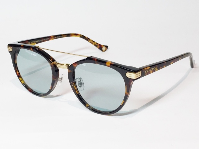 【送料無料】FREEDOM SPECTACLES (フリーダムスペクタクルス) POWELL  COLOR. 06 ( Tortoise - Yellow Gold / Light Green )