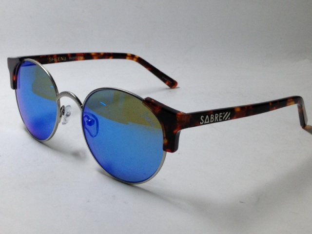 【送料無料】SABRE(セイバー) SHEENA SV207-226J (TORT-MATT SILVER / BLUE MIRROR LENS)