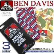 BEN DAVIS ベンデイビス i-phone7専用 シリコン アイフォンケース ブランドアイコン アメカジ BEN-904