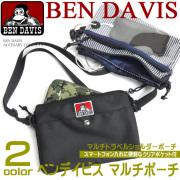 BEN DAVIS マルチポーチ ベンデイビス ショルダーポーチ ショルダーバッグ スマホ用クリアポケット付き BEN-925