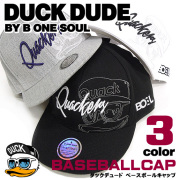 DUCK DUDE 帽子 キャップ ダックデュード ベースボールキャップ アヒルフェイスの刺繍と立体的なロゴ刺繍がお洒落 CAP-033