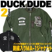 DUCK DUDE ���å��ǥ塼�� �������� ���㥱�å� ���ҥ�ե������λɽ�������ѥ���ȴ���ǥ��å�����MA-1���㥱�å� JBL-129