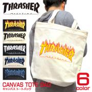THRASHER MAGAZINE バッグ スラッシャー キャンバス トートバッグ フレームロゴ THRASHER-THC800