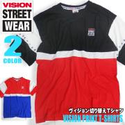 VISION STREET WEAR メンズ パーカー ヴィジョン 星条旗風刺繍 スウェットパーカー VISION-034