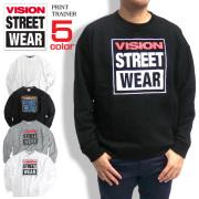 VISION STREET WEAR トレーナー ヴィジョン スウェット スプラッシュプリント スウェット VISION-063