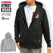 VISION STREET WEAR 長袖Tシャツ ヴィジョン メンズ サークルロゴロンT プリントT 袖ロゴ VISION-066