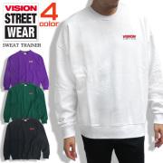VISION STREET WEAR 長袖 Tシャツ ヴィジョン メンズ Tシャツ トライアングルロンT ロゴ VISION-070