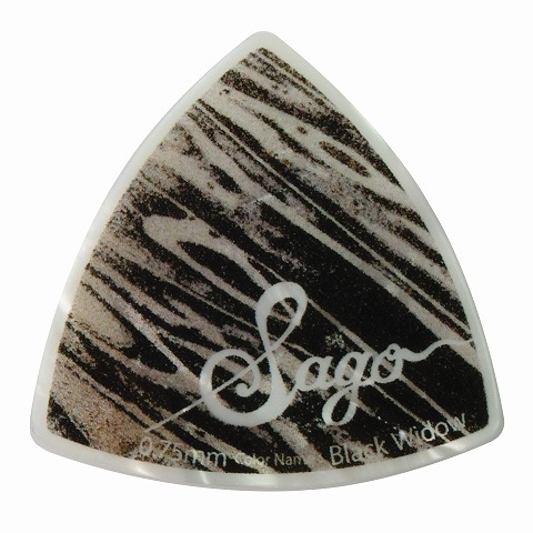 Sago(サゴ) ギターピック Wrapick Triangle Black widow0.75mm 10枚セット