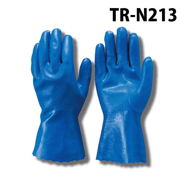 【ゆうメール送料無料/2双まで】トンボレックス ニトリル耐油手袋 TR-N213 ブルー (クーポン対象外)