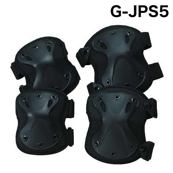 トンボレックス ハードタイプ樹脂パッド(肘・膝セット) G-JPS5BK ブラック(クーポン対象外)