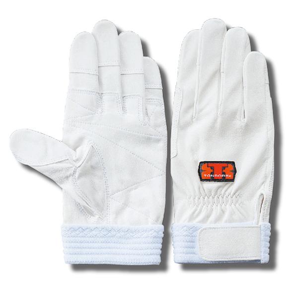 【ゆうメール送料無料/2双まで】トンボレックス 消防手袋 / グローブ 山羊革製 G-REX32W ホワイト(クーポン対象外)