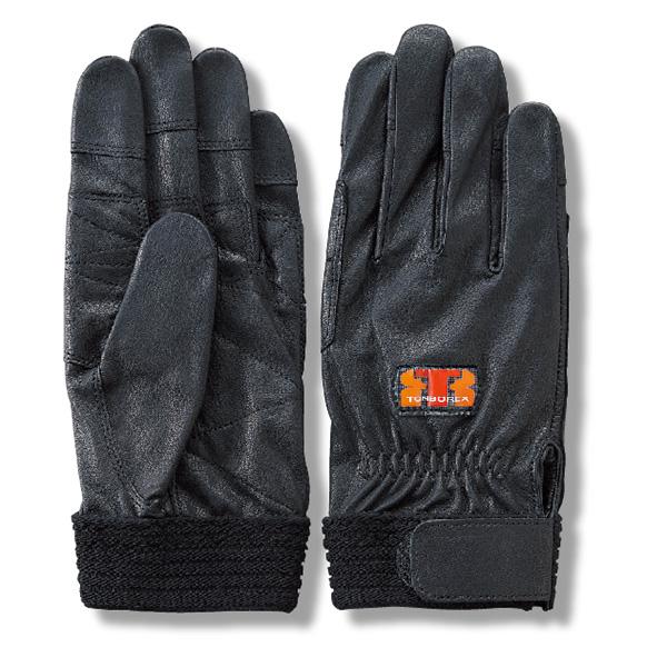 【ゆうメール送料無料/2双まで】トンボレックス 消防手袋 / グローブ 山羊革製 G-REX32BK ブラック(クーポン対象外)