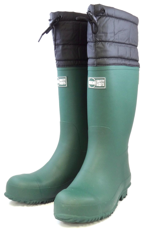 力王 安全作業用長靴 S225 GR グリーン
