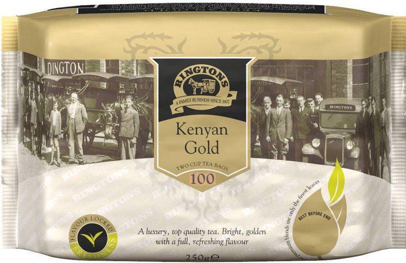 ■英国紅茶 Ringtons リントンズ 【KENYAN GOLD ケニアゴールド】 100包200杯分 300g