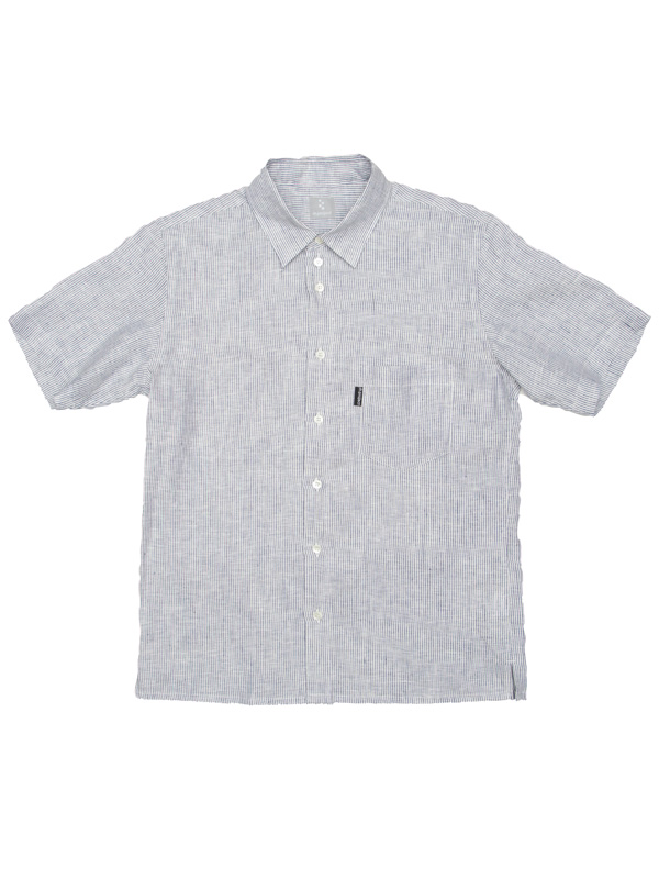 【フレンチリネンシャツ】 フレンチ リネン ストライプ 背ポケット 日本製 No.2113【送料無料】