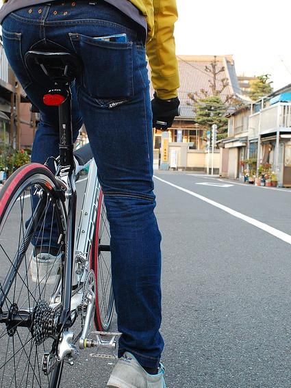 3075ストレッチサイクルデニム 自転車用カジュアルパンツ ストレッチデニム 送料無料