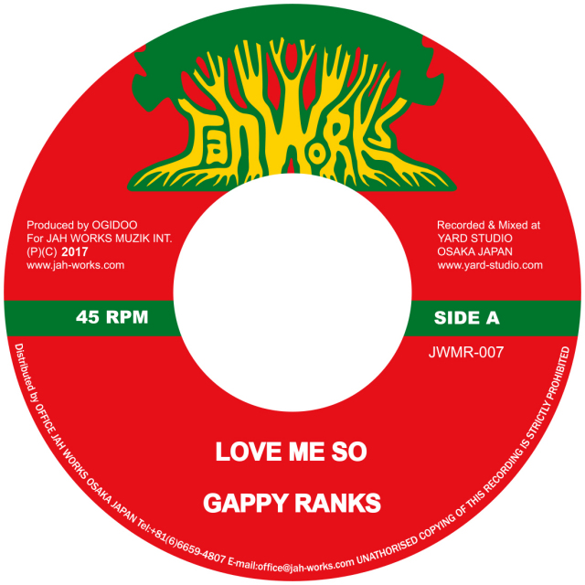 GAPPY RANKS / LOVE ME SO(SIDE A) - Prof.CHINNEN & ORIGINAL KOSE / LEGENDARY WOMEN(SIDE B)