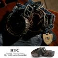 【HTC ITALY】'Glad' studded belt/イタリア製カウレザーゴールドスタッズヴィンテージベルト◆2711