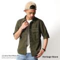 ������̵���ۡ�Heritage Stone/�إ�ƥ������ȡ����5ʬµ��åڥ�ߥ������/OD Patch Military Shirt/���/̵��/�ѥå�/HS1554000��5717