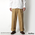 ������̵���ۡ�kafika/���ե�����������/���Υ磻�ɥȥ饦����/���/�磻�ɥѥ��/����å���/2���å�/���å�����/Chino Wide Trousers/kfk080��6246
