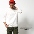 【Ranch.daily wear products】日本製/国産丸胴度詰め天竺ヘンリーネックTee◆6337