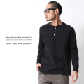 【Ranch.daily wear products】日本製/国産ヘンリーネックロングスリーブTシャツ◆6518
