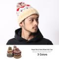 ネパールジャガードボンボン付ニット帽◆6558