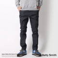 【Betty Smith/ベティスミス】日本製/国産9ozデニムストレッチトラウザー◆6634