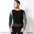 【Galvanize/ガルバナイズ】モノトーンブロッキングニットセーター◆6884