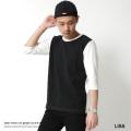 【LISS/リス】日本製/国産ローゲージ天竺7分袖カットソー◆7059