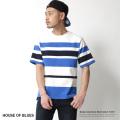 【HOUSE OF BLUES】ボーダーUSAコットンTEE◆7066