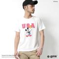 【grn/ジーアールエヌ】USAフロントプリントTシャツ◆7074