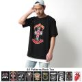 ロックプリントバンドTシャツ◆7085
