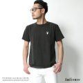 【Audience/オーディエンス】PLAYBOYラビットヘッド刺繍ピグメント加工Tシャツ◆7090