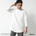 【Ranch/ランチ】ポンチ素材ロング丈8分袖カットソー◆7119