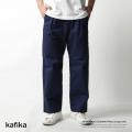 【kafika/カフィカ】日本製/国産COOLMAXツイルワイドイージーパンツ◆7184