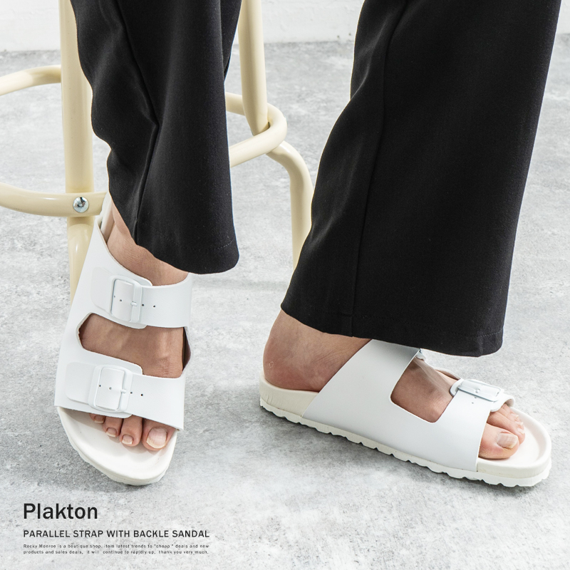 Plakton/PARALLEL STRAP WITH BACKLE SANDAL◆5809