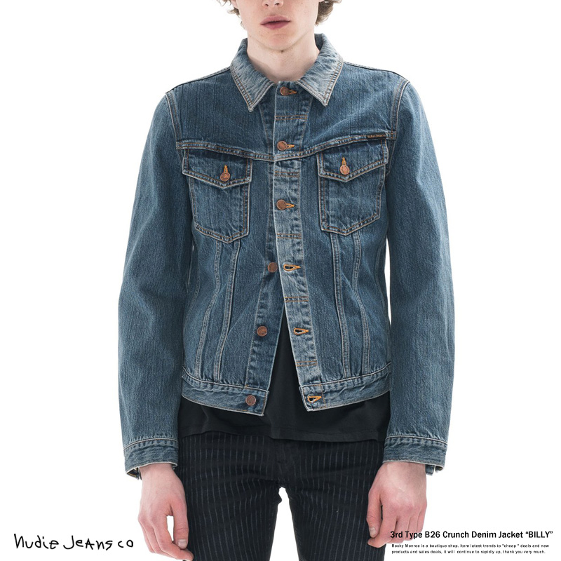 【Nudie Jeans/ヌーディージーンズ】3rdタイプデニムジャケットBILLY◆6713